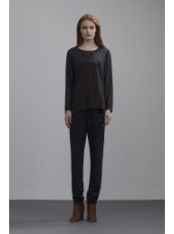 THE DREAMER LABEL - The Spliced Silk Blouse