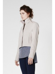 ONCE WAS - Preen High Collar Wool Jacket Husk
