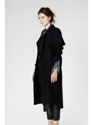 ONCE WAS - Peregrine Wool Trench Coat