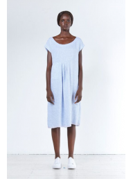 ALESSANDRA - Stripe Smock Dress - Beige Stripe