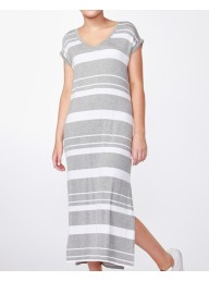 BETTY BASICS - Vienna Dress Silver Stripe