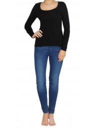 BETTY BASICS - Madonna L/S Top - Black