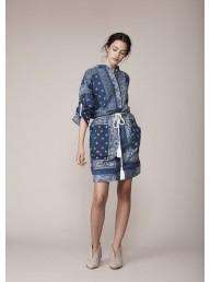 BINNY - 'Bream' Linen Blend Shirt Dress -  Bandana