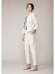 BINNY - 'Everlastings' Broderie Tassel Jacket - Natural