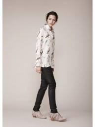 BINNY - 'Mr Percival' Viscose Shirt - Pelican