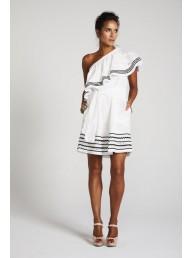 BINNY - 'Cariocas' One Shoulder Ruffle Dress - Broderie