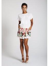 BINNY - 'Farofa' Viscose Linen Ruffle Shorts
