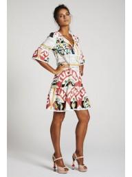 BINNY - 'Sugar & Spice' Ruffle Sleeve Swing Dress - Toucan