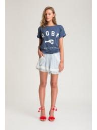 BINNY - Mop Tops Ruffle Hem Shorts