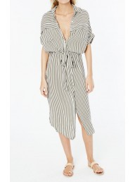 FAITHFULL THE BRAND - Gigi Shirt Dress - Georgia Stripe