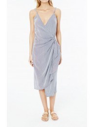 FAITHFULL THE BRAND - Juel Midi Dress - Sisal Stripe