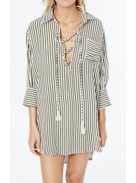 FAITHFULL THE BRAND - Sundays Shirt Dress - Georgia Stripe