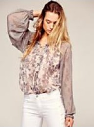 FREE PEOPLE - Hendrix Printed Blouse