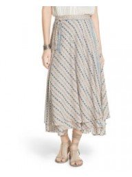 FREE PEOPLE - Good For You Printed Skirt - Ivory Combo