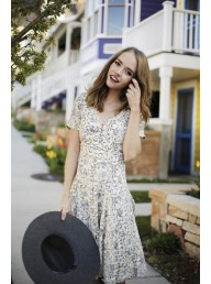 FREE PEOPLE - Mystical Dress - Neutral Combo