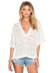 FREE PEOPLE - Amber Skies Blouse - Ivory