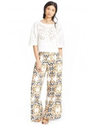 FREE PEOPLE - Over Under Pant - Ecru Combo
