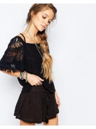 FREE PEOPLE - Blackbird Knit - Indigo Combo