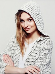 FREE PEOPLE - Love Me Tender Cardi - Cream Combo