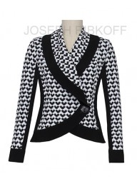 JOSEPH RIBKOFF - LDS Jacket - Black/ Off - White
