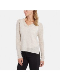 LINE - Beth - V-Neck Sweater with Dropped Shoulder - Mink