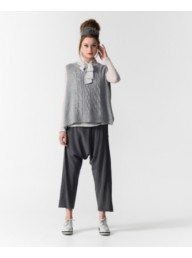 M A DAINTY - Picket Fence Grey Knit