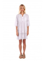 MIST - India Pintuck Dress - White