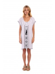 MIST - Violet Dress - White/Black