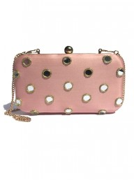MOSS & SPY - Mirrored Clutch Pink