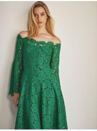 MOSS & SPY - Marica Dress - Navy (Pictured in Emerald)