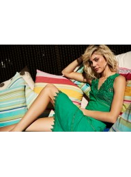 MOSS & SPY - Neema Dress - Emerald