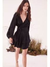 STEELE - Felice Wrap Dress - Black