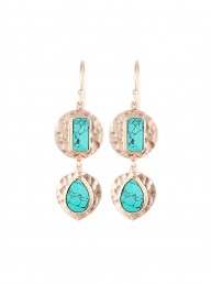 NICOLE FENDEL - Ilana - Disc Drop Earring