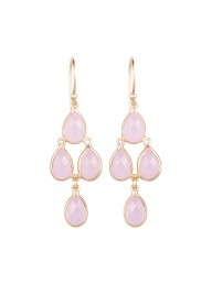 NICOLE FENDEL - Freya Drop Earring - Rose Quartz