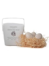 PLAIN & SIMPLE - Duck Egg Soap - 3 in a Box
