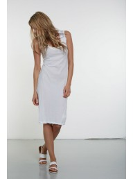PRIMNESS - Twisty Tank Dress - Blanc