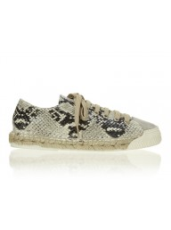 ESTILO EMPORIO - Low Top Espadrille Sneaker - Natural Python
