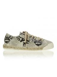 ESTILO EMPORIO - Low Top Espadrille Sneaker - Natural Python