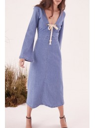 STEELE - Freja L/S Dress - Blue Denim