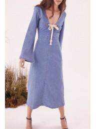 STEELE - Freja L/S Dress - Blue Denim