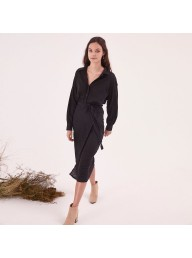 STEELE - Stevie Wrap Dress - Black