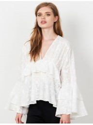 STEVIE MAY - Winged Dreams L/S Ruffle top