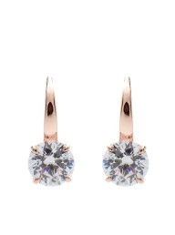 SYBELLA - Rose Gold Plate & Clear Claw 8mm CZ Earrings on Sybella Hook