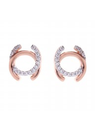 SYBELLA - Rose Gold & Cubic Zirconia Stud Earrings
