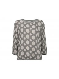 YAYA - Shirt Blouse AOP - Grey Green Dessin