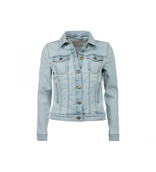 YAYA - Denim Jacket - Old Wash Light Blue Denim