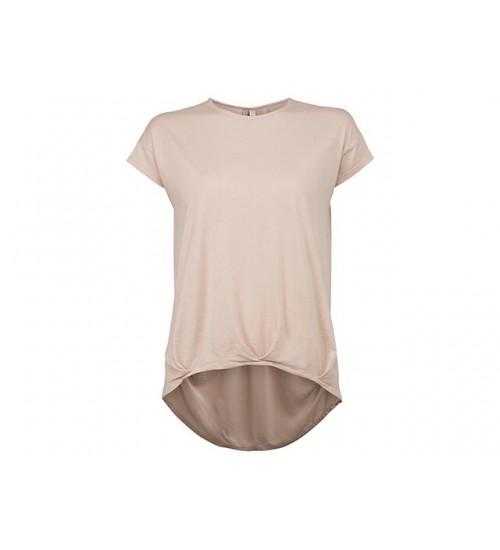 YAYA - SS Blousen Top Woven Back - Pale Pink