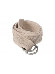 YAYA - Braided Suede Belt - Sand