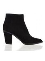 ESTILO EMPORIO - Navy Stacked Ankle Boot